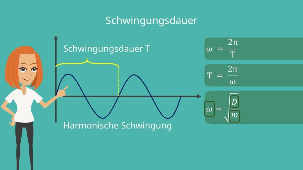 Schwinungsdauer, Amplitude, Frequenz, harmonische Schwingung, harmonischer Oszillator, Schwingungsfrequenz