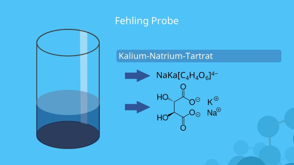 Fehling Probe, Fehlingprobe, Fehling Reaktion, Kalium-Natrium-Tartrat