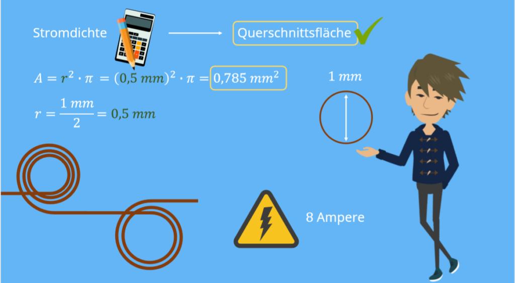 Stromdichte Formel, Stromdichte Einheit, Stromdichte, Querschnittsfläche, Stromdichte Leitung, Stromdichte Kupferleitung