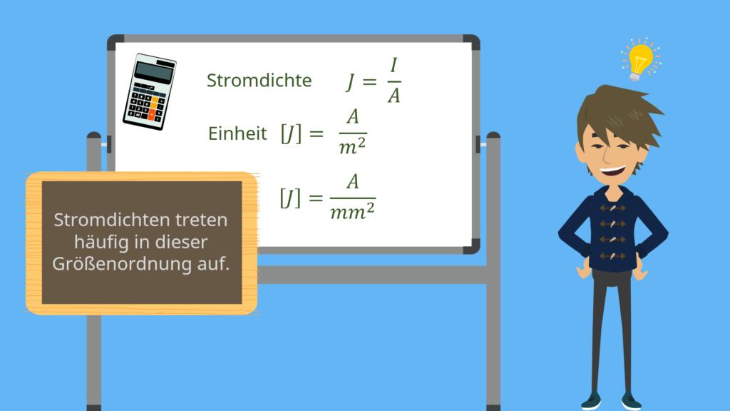 Stromdichte Formel, Stromdichte Einheit, Stromdichte, Querschnittsfläche