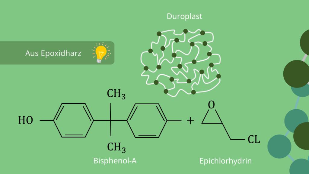 Epoxidharz Strukturformel, Epoxidharz Molekül, Duroplast