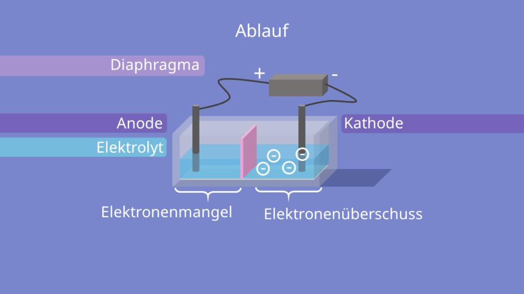 Elektrolyse - Schema, Ablauf, Aufbau