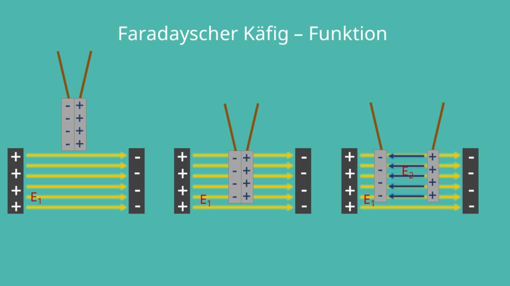 Faradayscher Käfig Funktion, Versuchsaufbau und Wirkung