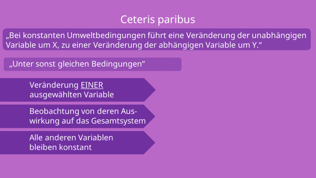 Ceteris paribus Klausel Bedeutung, Definition mit Beispiel