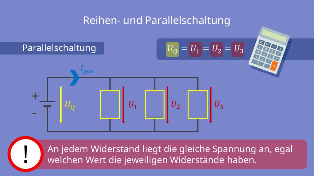 elektrische Spannung bei einer Parallelschaltung
