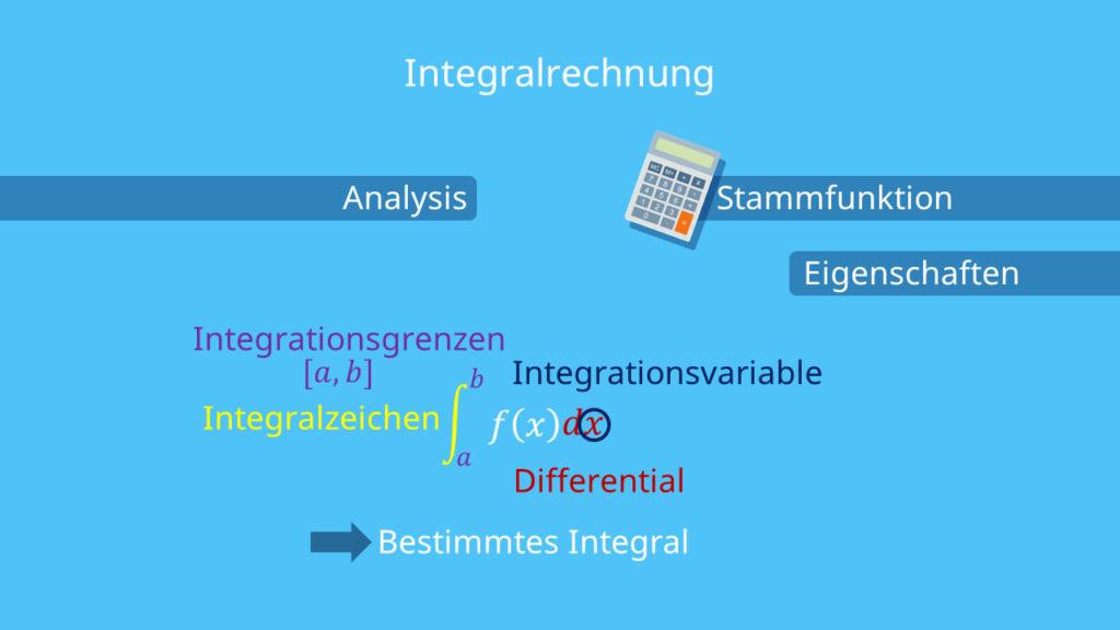 Bestandteile der Integralrechnung