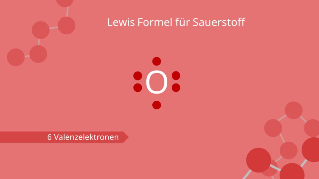 Lewis Formel für Sauerstoff