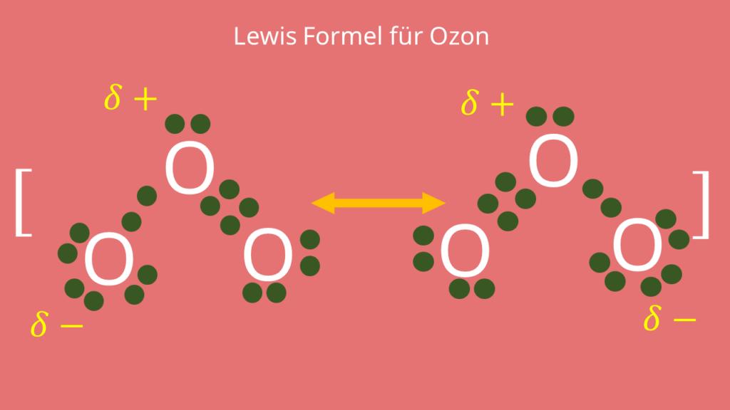 Lewis Formel für Ozon