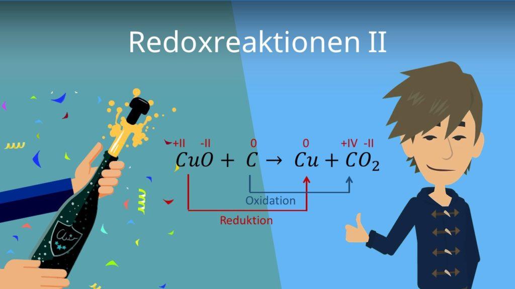 Kupferoxid, Kohlenstoff, Redoxreaktion, Oxidation, Reduktion, Elektronen