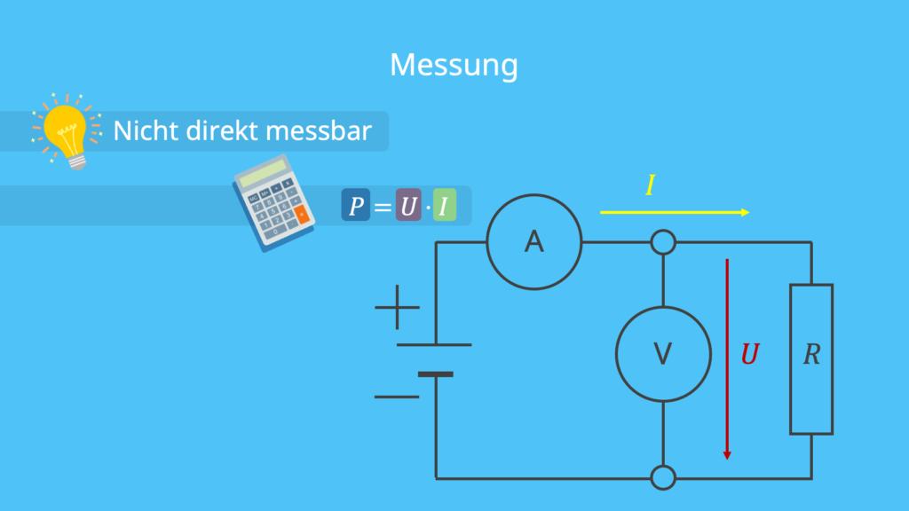 elektrische Leistung - Messung, messen und Formel