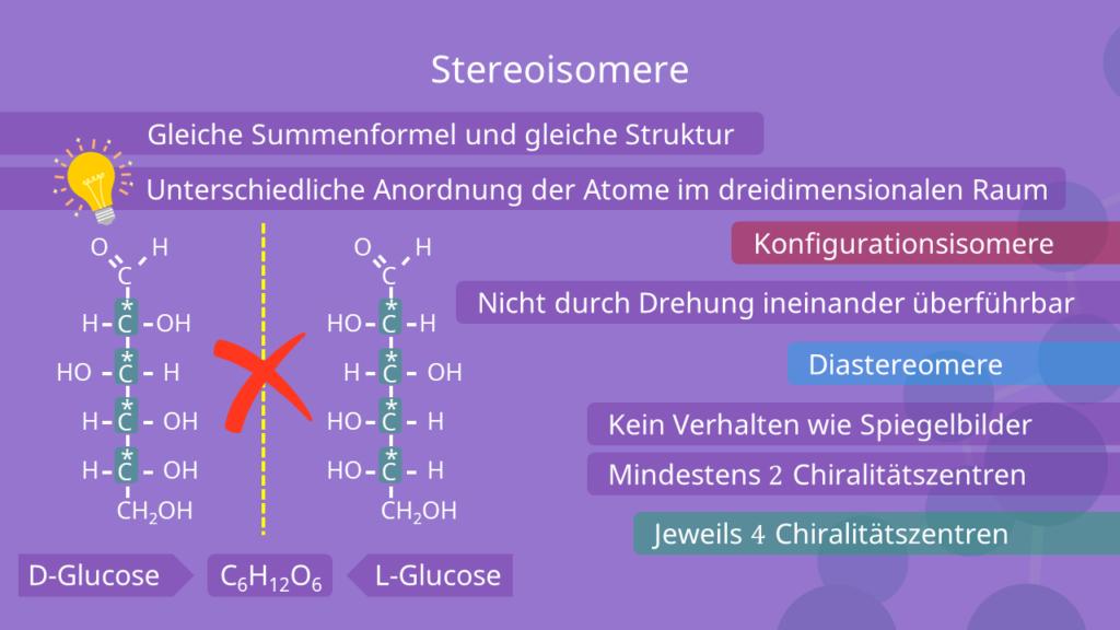 D-Glucose und L-Glucose