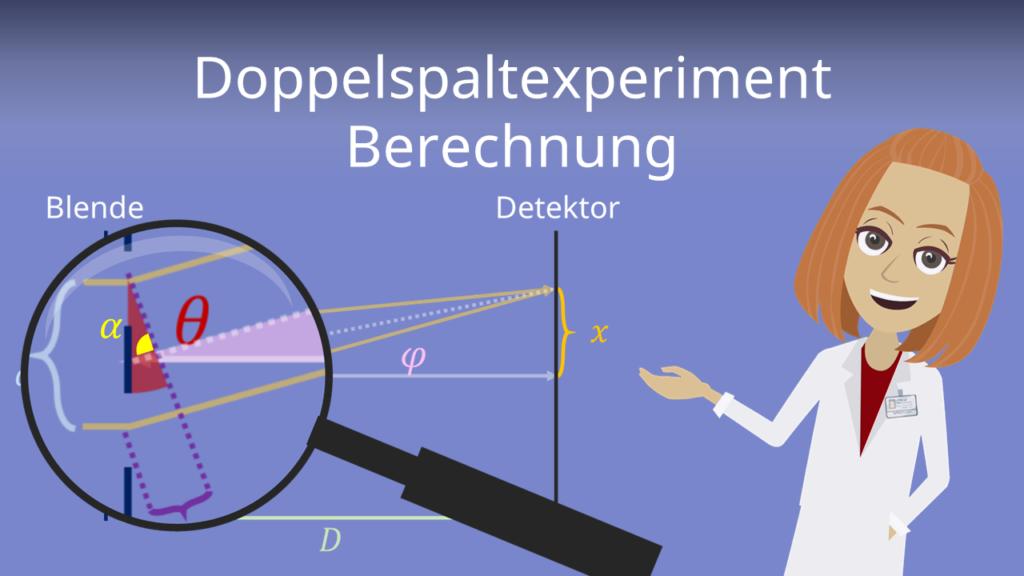 Zum Video: Doppelspaltexperiment Berechnung