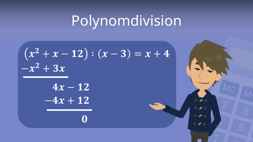 Polynomdivision, polynome teilen
