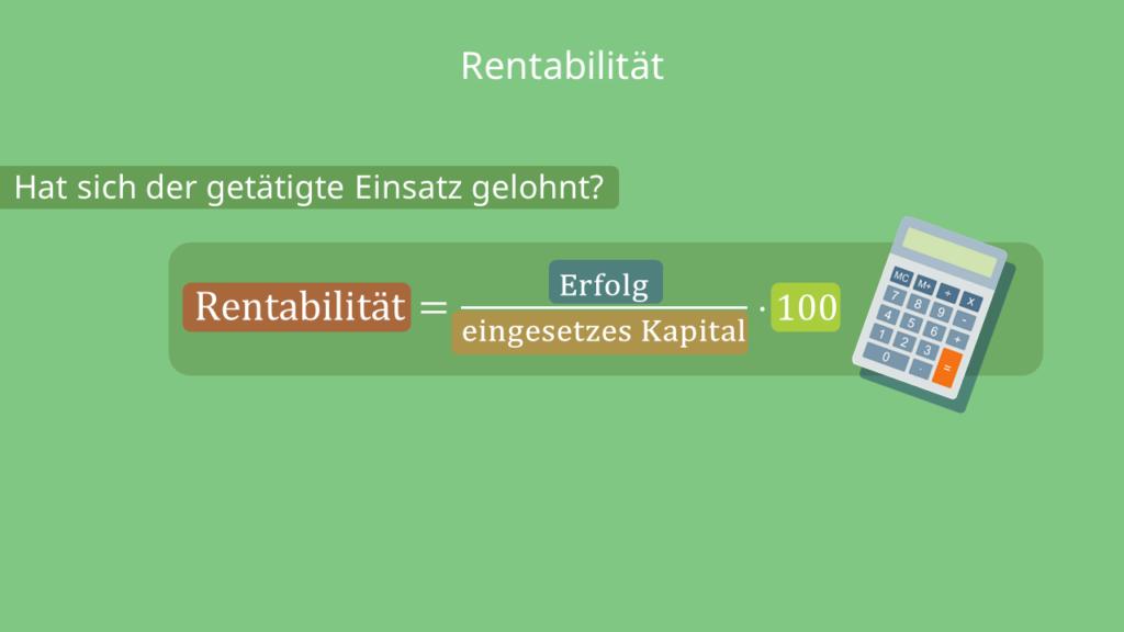 Rentabilität - allgemeine Formel
