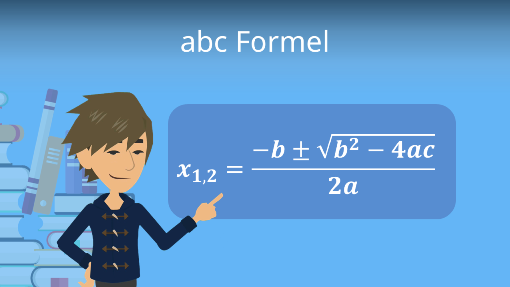 abc Formel, Mitternachtsformel, quadratische Gleichungen lösen, Nullstellen berechnen, Diskriminante