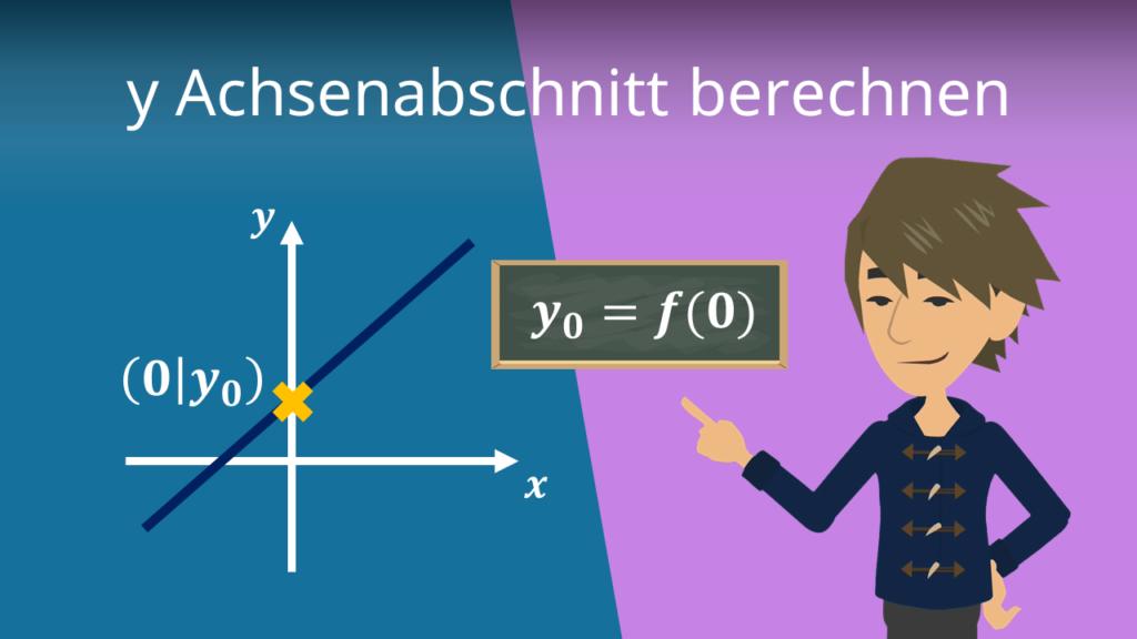y Achsenabschnitt, y Achsenabschnitt berechnen, Y-Achsenabschnitt, Ordinatenabschnitt