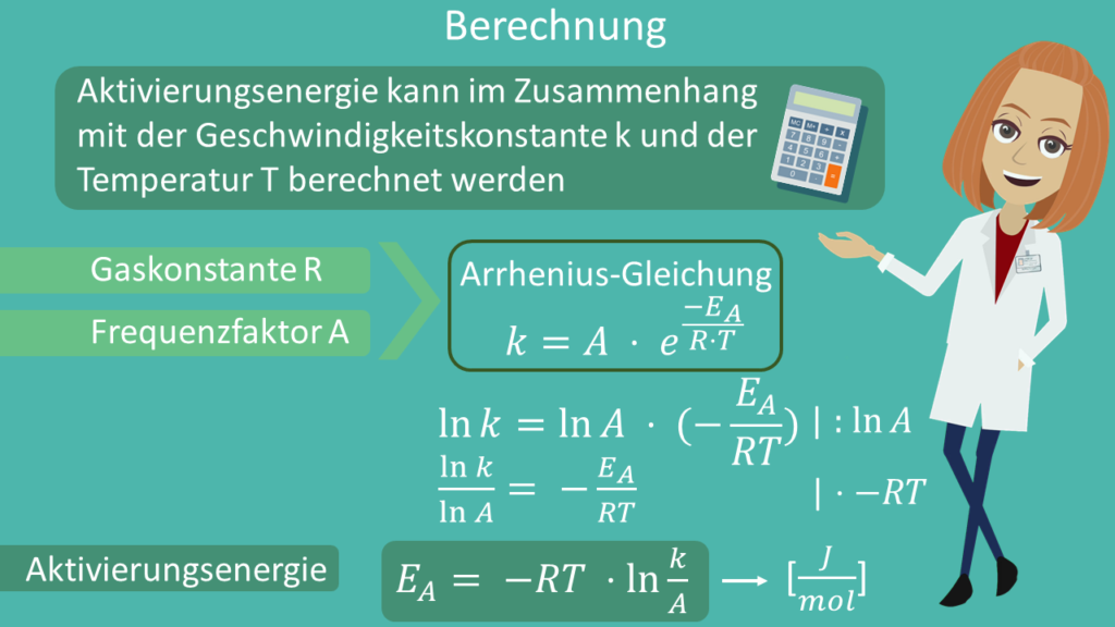 Aktivierungsenergie berechnen, Aktivierungsenergie Berechnung