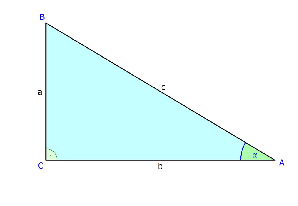 Tangens am rechtwinkligen Dreieck