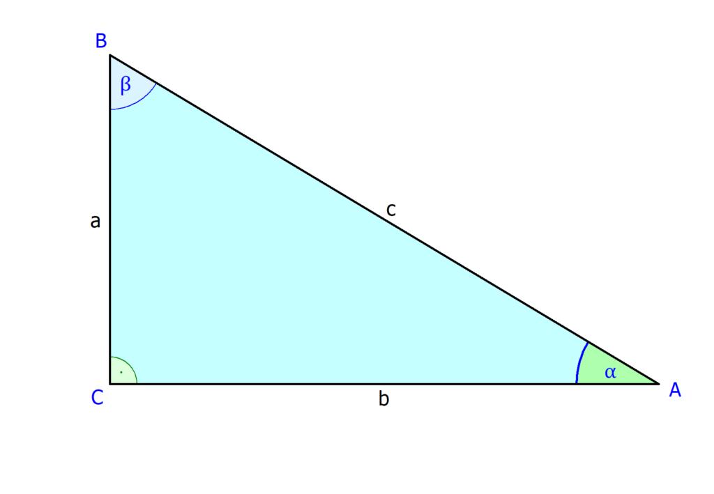 Rechtwinkliges Dreieck, Ankathete, Hypotenuse, Gegenkathete,
