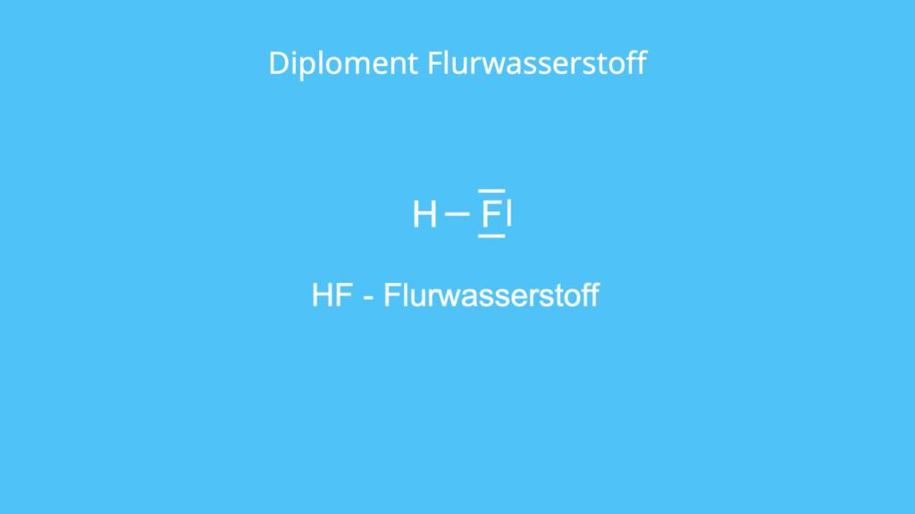 Diploment, Flurwasserstoff, HF, Dipol Molekül