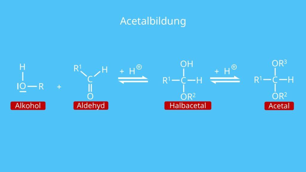 Acetalbildung, Alkohol, Alkohole
