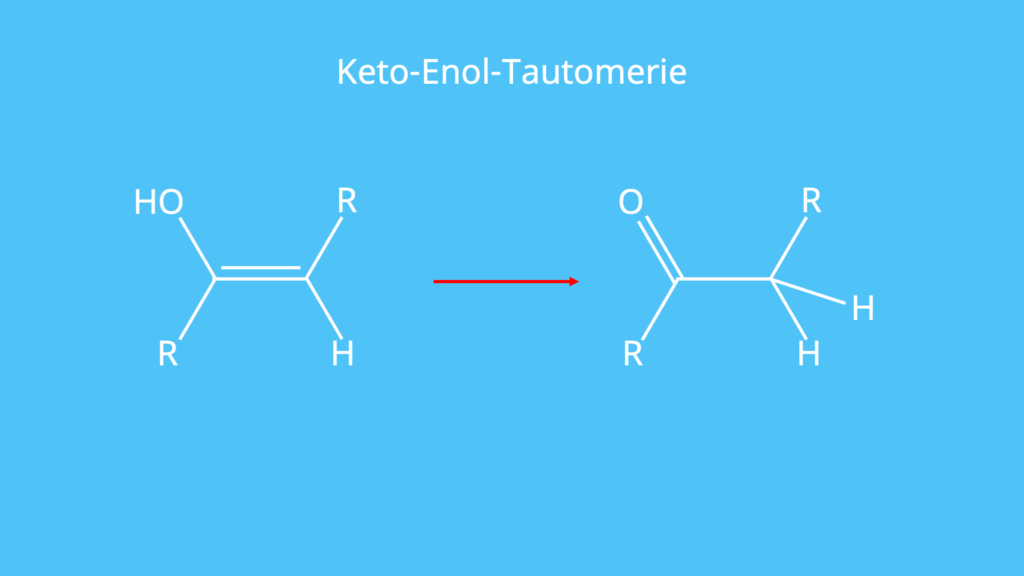 Keto-Enol-Tautomerie, Brom, Elektrophile Addition, Doppelbindung, Elektrophiler Angriff, Bromonium-Ion, anti Addition, Bromaddition