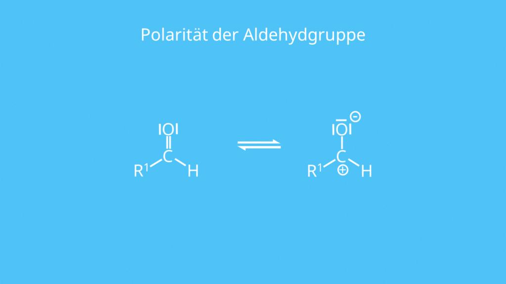 Aldehyd, polar, Polarität, Carbonylgruppe