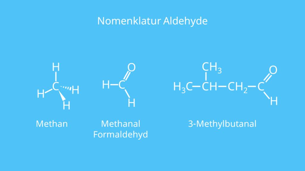 Methan, Methanal, Struktur, Aldehyd, Formaldehyd, Butanal, Nomenklatur