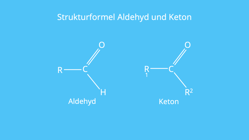 Struktur, Keton, Aldehyd, Aldehydgruppe