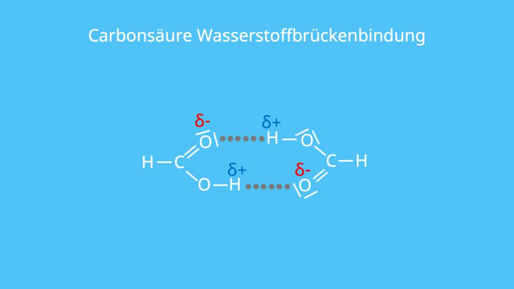 Carbonsäure, Wasserstoffbrückenbindung, Monomer, Carboxylgruppe