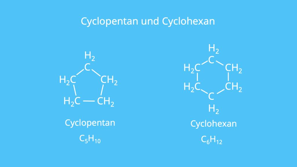 Cycloalkan, cyclisch, zyklisch, Cyclopentan, Cyclohexan, Ringförmig, ringförmig