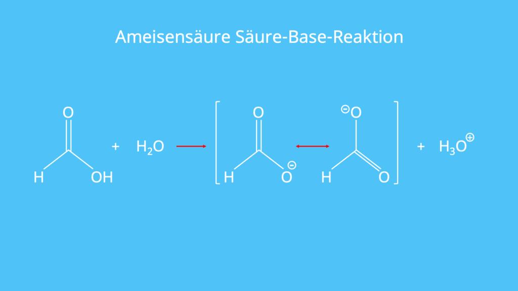 Formiat-Ion, Säure, Base, pKs, Carboxylgruppe, Carboxylat, Oxonium-ion, Wasser