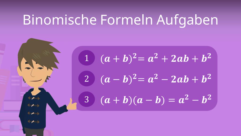Zum Video: Binomische Formeln Aufgaben