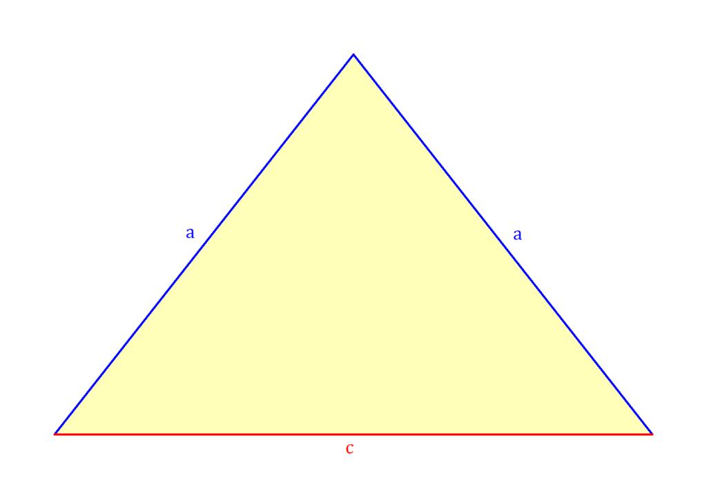 gleichschenkliges Dreieck Flächeninhalt, Flächeninhalt gleichschenkliges Dreieck