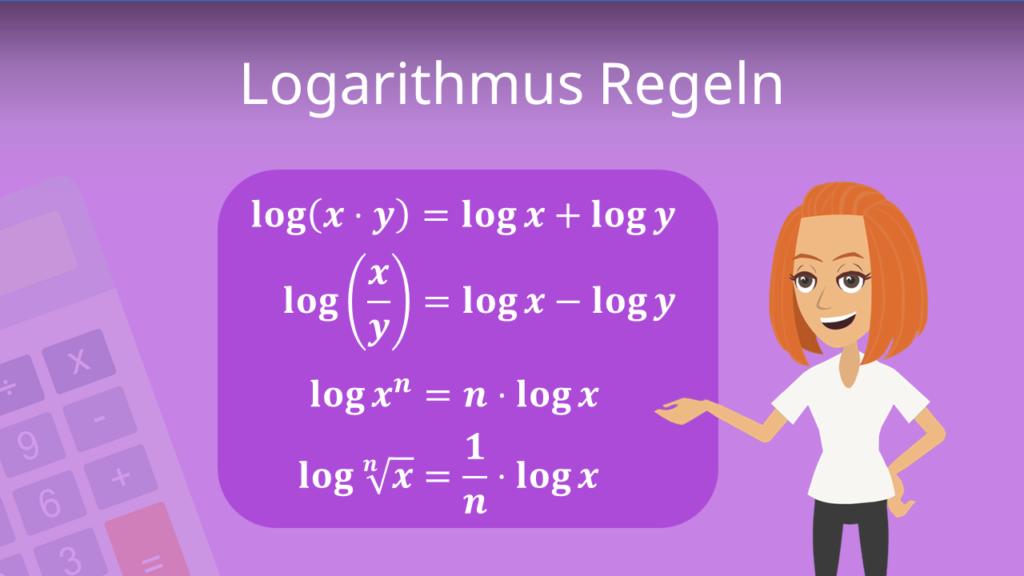 Logarithmus, Logarithmus Rechenregeln, log, Logarithmen