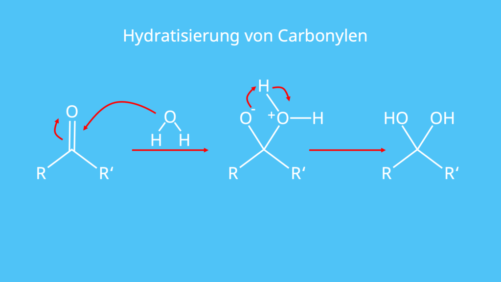 Hydratisieren, Carbonyl, Wasser, Diol, Addition