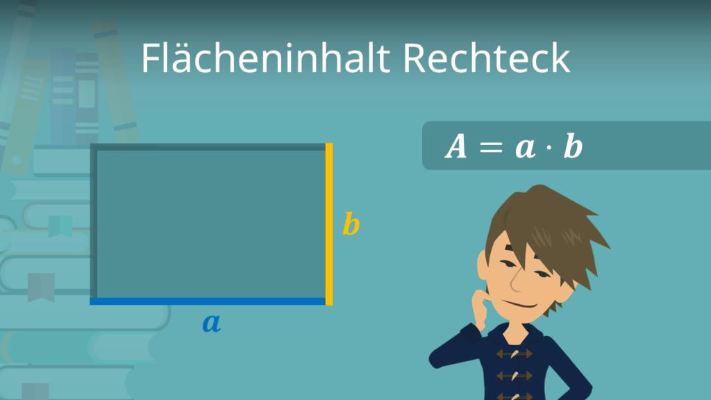 Flächeninhalt Rechteck, Flächeninhalt Rechteck Formel, Flächenberechnung Rechteck, Fläche Rechteck berechnen