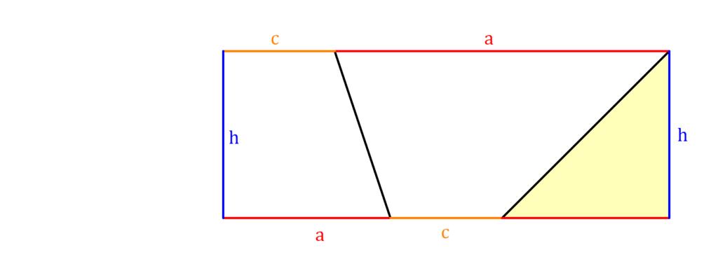 Flächeninhalt Trapez, Trapezfläche Herleitung, Flächeninhalt Trapez Herleitung