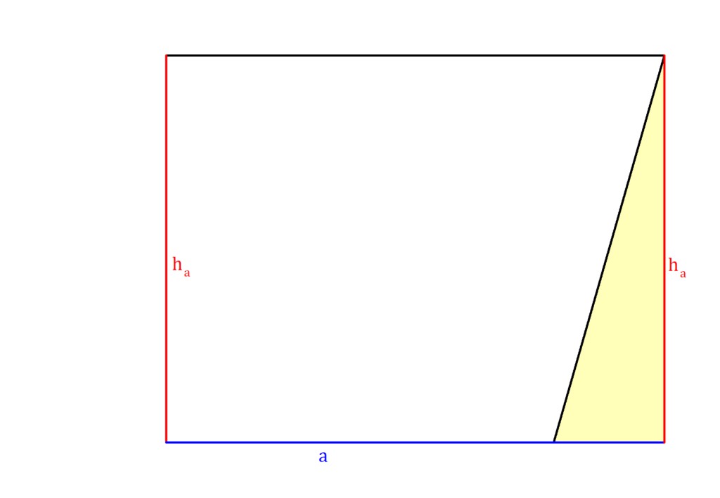 Parallelogramm, Parallelogramm Formel Herleitung