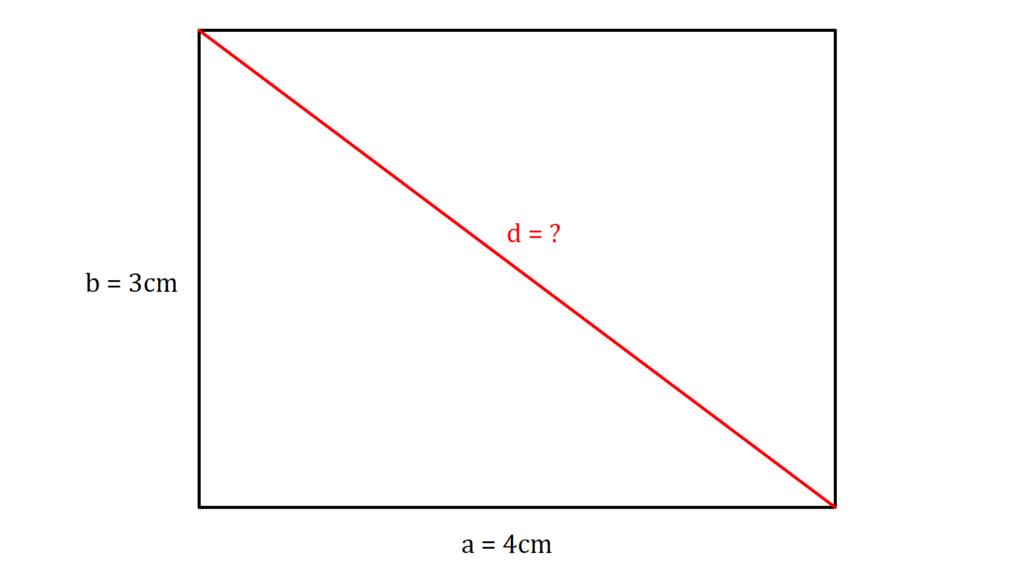 Diagonale Rechteck berechnen, Rechteck Diagonale berechnen, Diagonale berechnen Rechteck, Diagonale berechnen