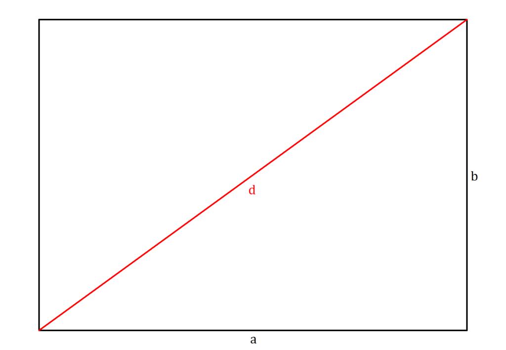 Diagonale, Flächendiagonale, Diagonale berechnen, Diagonale Rechteck, Diagonale Rechteck berechnen