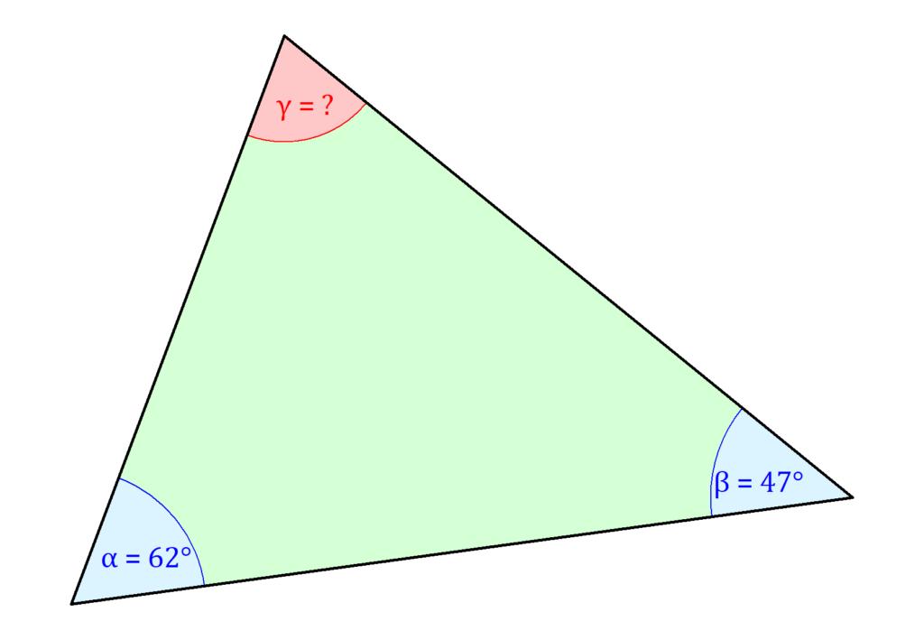 Innenwinkel Dreieck, Winkel Dreieck berechnen, Dreieck Winkel berechnen, Winkelberechnung Dreieck