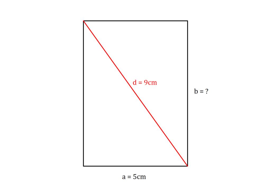 Seitenlänge  aus Diagonale berechnen, Rechteck Diagonale, Diagonale Rechteck