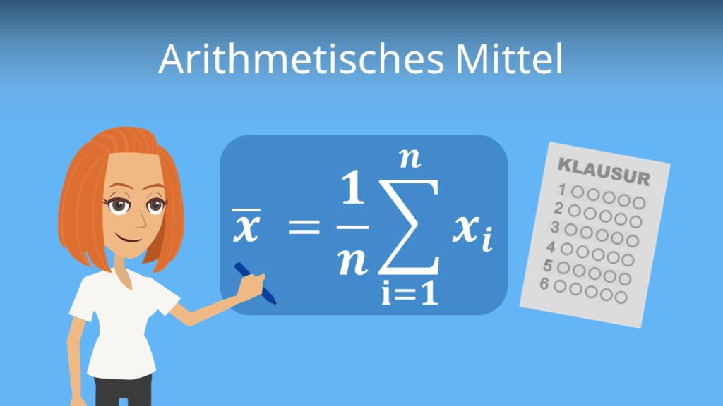 Zum Video: arithmetisches Mittel, arithmetisches Mittel, Mittelwert