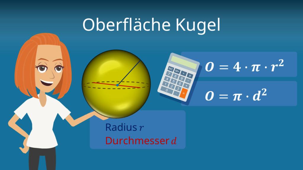 Oberfläche Kugel, Kugeloberfläche, Oberfläche Kugel formel, Oberfläche kugel berechnen