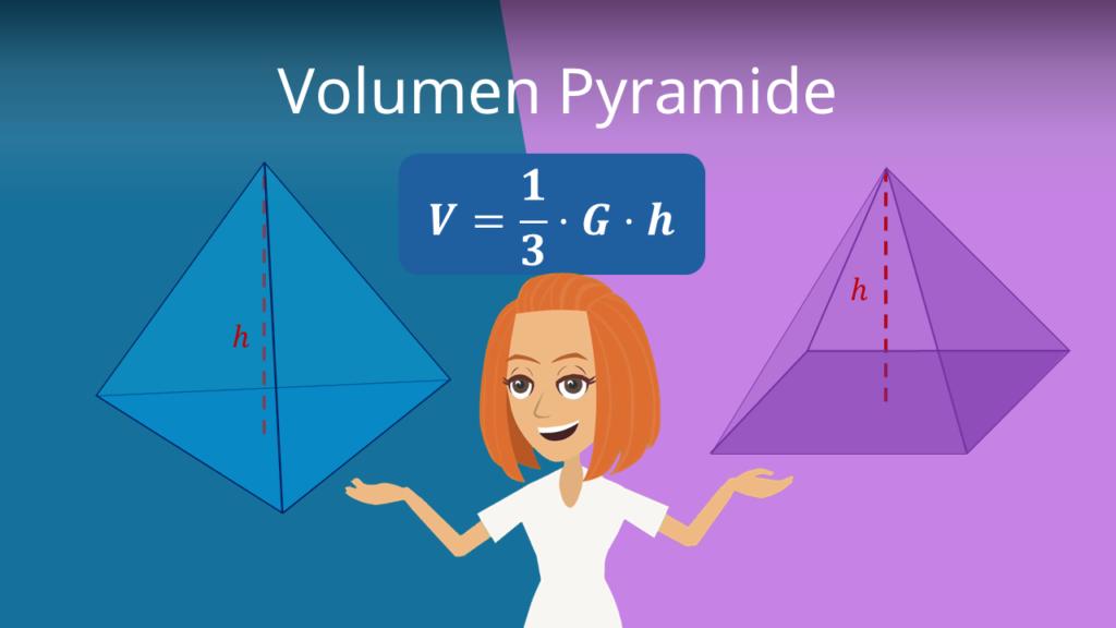 Volumen Pyramide, Volumen Pyramide formel, Volumen pyramide berechnen