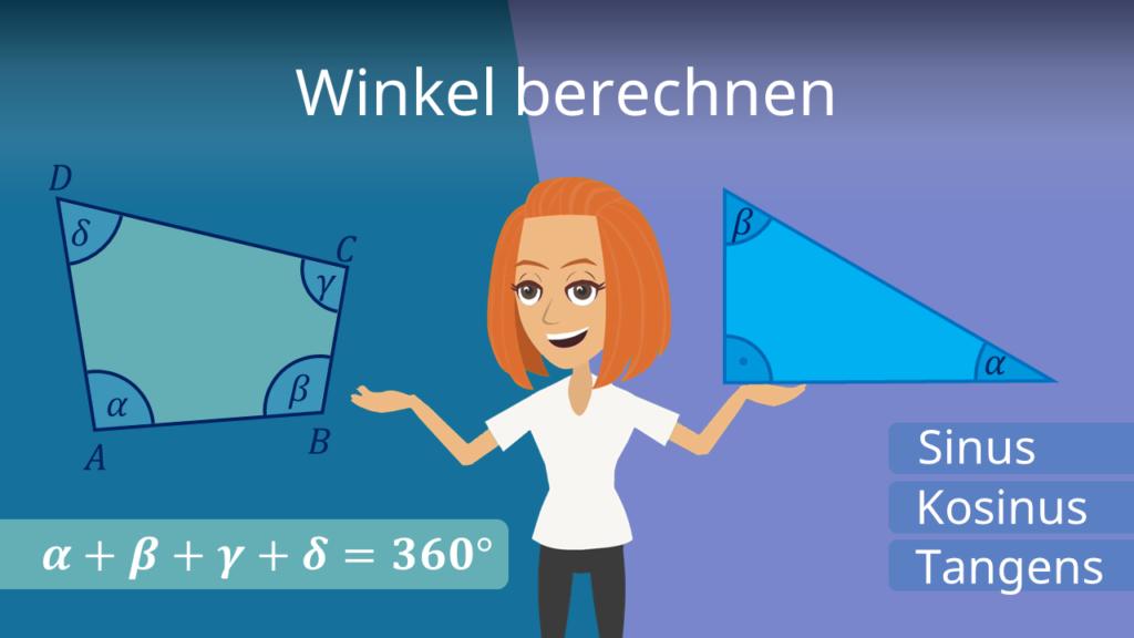 Winkel berechnen, Winkelberechnung, Tangens Winkel berechnen, Winkel Dreieck berechnen, Winkel berechnen Aufgaben