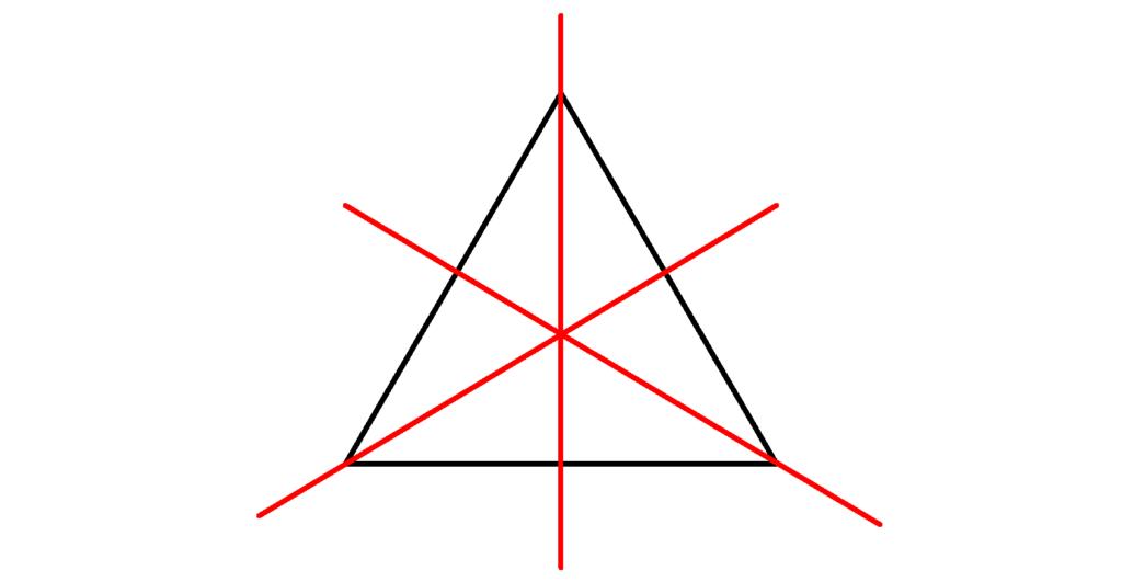 gleichseitiges Dreieck, Dreieck, Symmetrie, Achse, Symmetrieachsen
