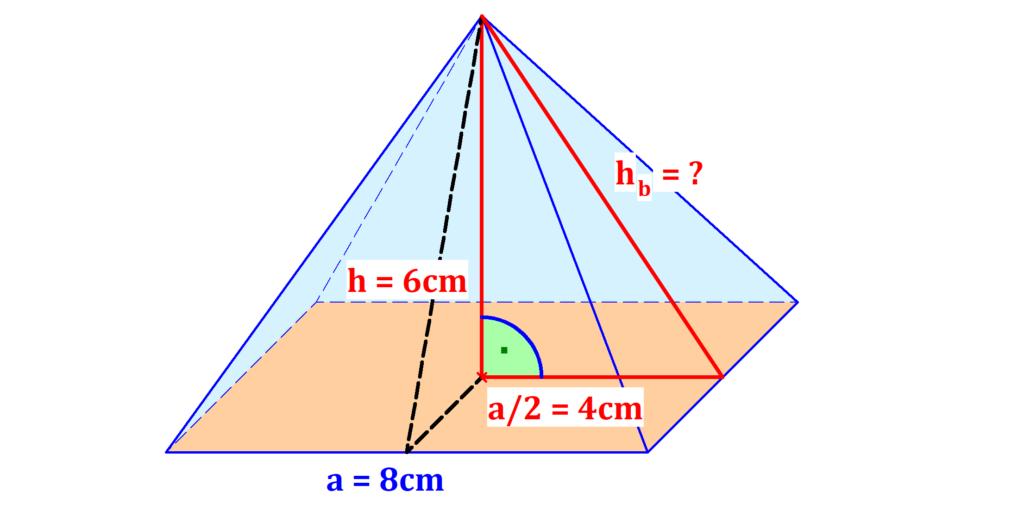 Dreieck, Höhe, rechter Winkel, Pyramide
