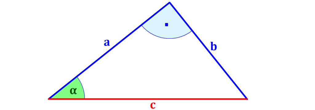 rechtwinkliges Dreieck, Winkel, Kathete, Hypotenuse